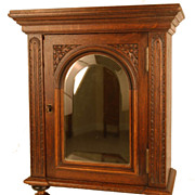 SOLD Antique Nineteenth Century French Cabinet w/Beveled Mirror