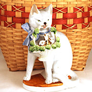 SOLD Vintage German Porcelain Statue
