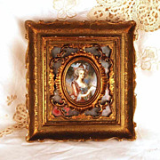 Fine Framed Miniature Portrait of Marie Antoinette (after  Louise-Elisabeth Vig�e-Lebrun)