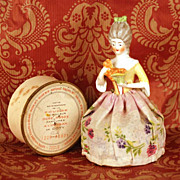 Vintage Coty Poudre Box in form of Half Porcelain Doll