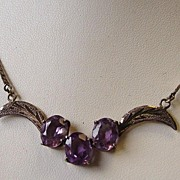 950 Silver Amethyst Necklace