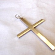 Sterling Silver Cross Pendant  9.8g