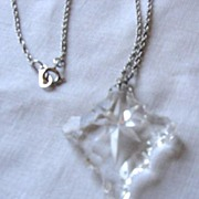 Cut Crystal Cross Necklace