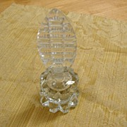 Cut Clear Glass Perfume Bottle