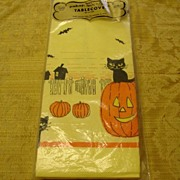 Vintage Mid Century Halloween Paper Table Cover