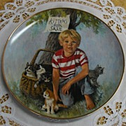 "The World of Children ""Kittens For Sale"" Porcelain Plate Limited Edition"
