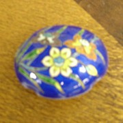 Sterling Silver and enamel Cloisonne Trinket Box