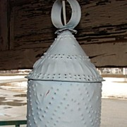 Electric Hanging Tin Lantern Light Fixture