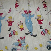 1960's Bozo the Clown Quilt