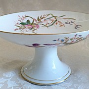 SALE 19th Century Limoges Handpainted French Porcelain Compote