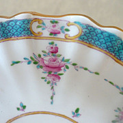 Minton Hand Painted Ruffle Edged Bon Bon Dish Persian Rose Pattern - early 1900s