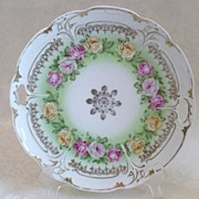 SALE German Porcelain Cake Plate Teres Crown China