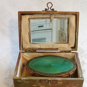 SALE Men's Edwardian Traveling Brush Set in Presentation Box. c. 1901-1910