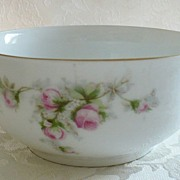 REDUCED Vintage German Bavarian Porcelain Bowl with Roses - c. 1931-38