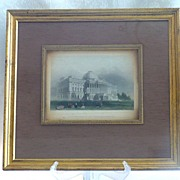REDUCED William Henry Bartlett Original 1840 Framed Engraving: Washington Capitol