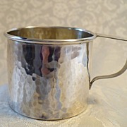 SOLD Hammered American Sterling Silver Baby Cup