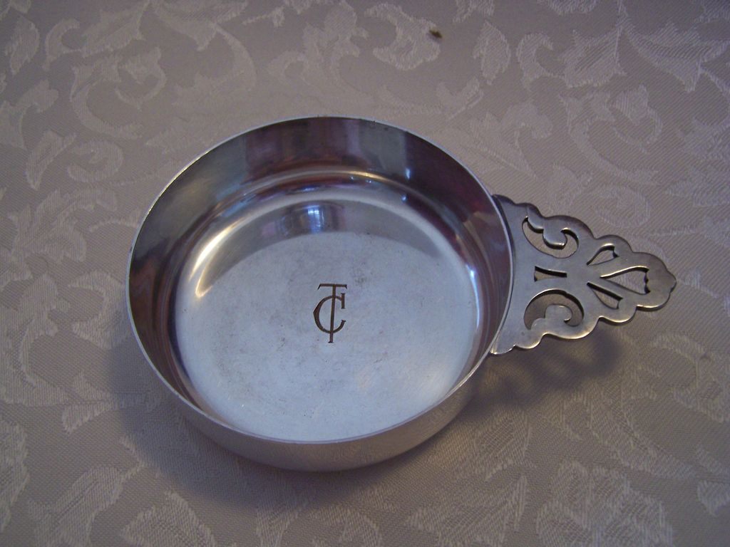 Silverplate on Copper Porringer