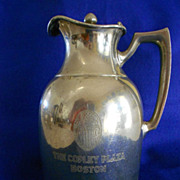 SOLD Copley Plaza Hotel Silver Insulated Carafe & Provenance - Red Tag Sale Item