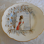 SALE Antique Handpainted Haviland Portrait Plate