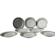 SALE Set of 8 Austrian Porcelain Dessert Plates