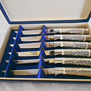 SALE Set of 6 Solingen Stainless Steak Knives in Presentation Box