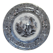 English Transferware &quot;Rhone Scenery&quot; Plate