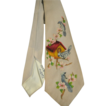 Signed Vintage 50s Handpainted Silk Tie