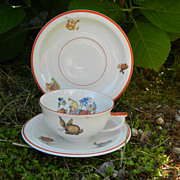 SALE Child's Pixie China Tea Trio (German)