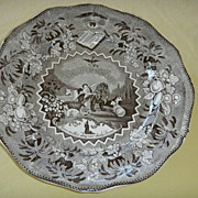 REDUCED Rare Millenium Antique English Transferware  Plate