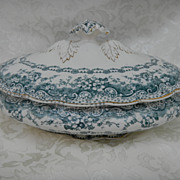 "English Transferware ""Lucerne"" Covered Tureen"
