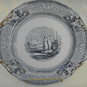 English Transferware Large Pastry Platter
