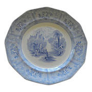 English Transferware &quot;Ontario Lake Scenery&quot; Plate