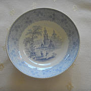 Blue & White Transferware &quot;Mesina&quot; Small Bowl