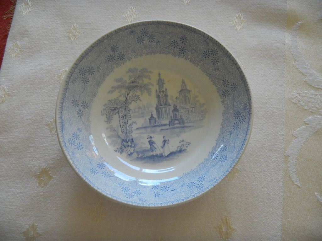 "Blue & White Transferware ""Mesina"" Small Bowl"