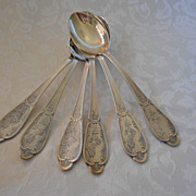 Set of 6 Russian tablespoons