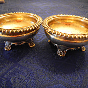 British Sterling George IV 1830 Salt Cellar Pair
