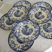 Set of 8 English Transferware Chargers