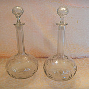 REDUCED English Regency Period (1805-1830) Decanter Pair