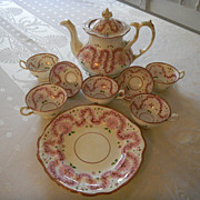 English Lustreware Tea Set (11 pieces)