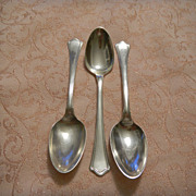 3 Wallace Sterling Silver Teaspoons - Washington Pattern