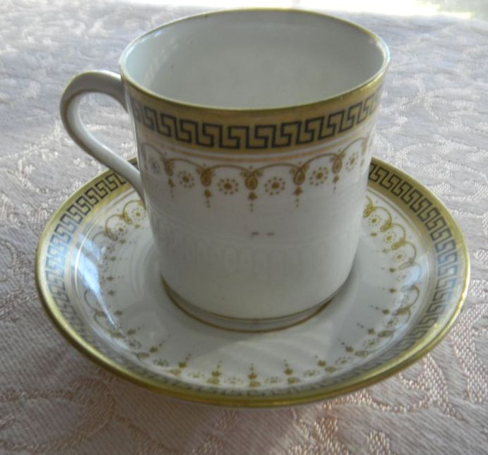 English Porcelain Demitasse Set