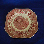 Avon Cottage Transferware Cookie Plate