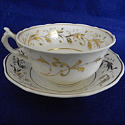 REDUCED Antique English Spode Cup & Saucer