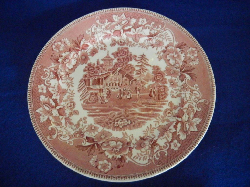 Avon Cottage Transferware Dinner Plate