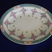 "Mintons ""Persian Rose"" Oval Butter Plate"