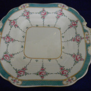 "Minton China ""Persian Rose"" double Handled Square Cake Plate"