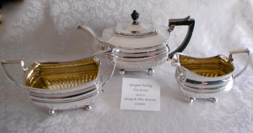Georgian British Sterling Tea Service,1810, Burrows