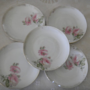 Set of 5 German Porcelain Dessert Plates