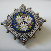 Italian Micro Mosaic Brooch/Pin