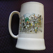 English Staffordshire &quot;Dickensware&quot; Tall Musical Stein/Mug